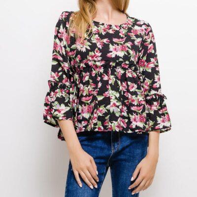 blouse à fleurs femme