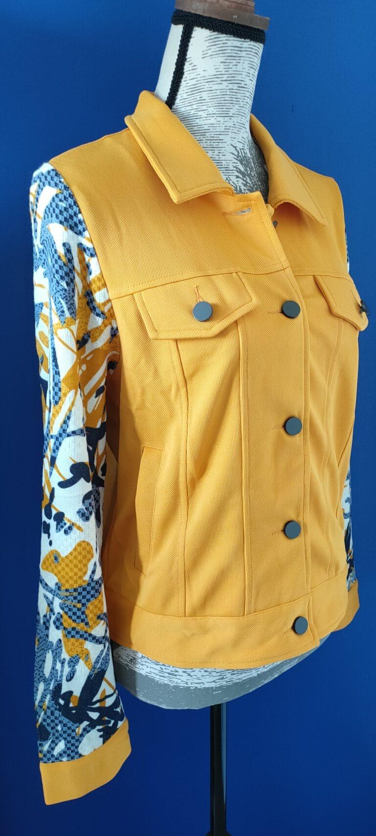 veste jaune motif profil