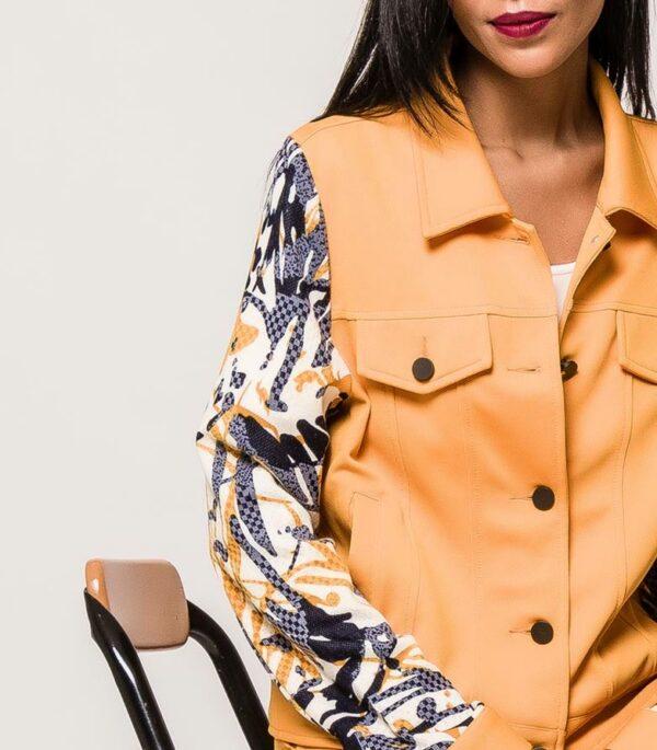 veste jaune courte femme